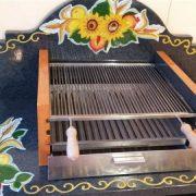 Barbecue in pietra lavica dettaglio