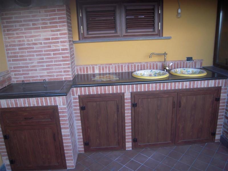 Barbecue alicudi cu ce mur cucine in muratura prefabbricata cu ce mur cucine in muratura - Cucina esterna in muratura con barbecue ...