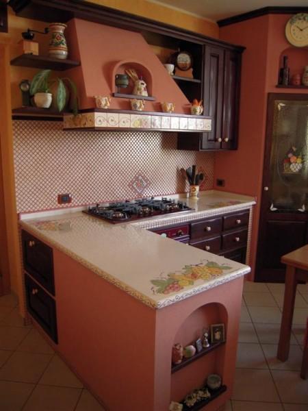 Cucina pantelleria cu ce mur cucine in muratura - Piano cucina in muratura ...