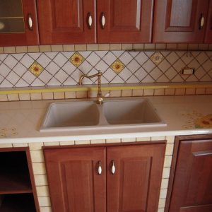 cucina in muratura trapani dettaglio lavello