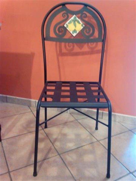 sedia in ferro battut siracusa