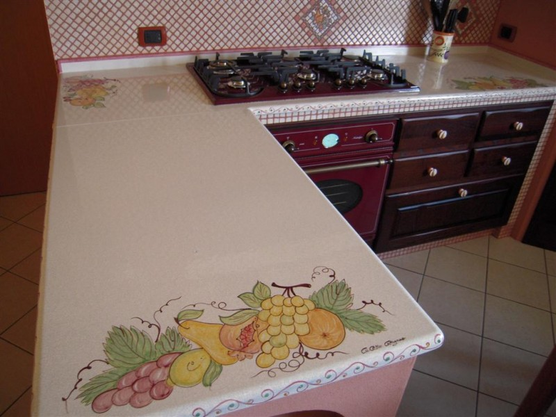 Top in pietra lavica frutta cu ce mur cucine in muratura prefabbricata cu ce mur cucine - Top cucina pietra lavica ...