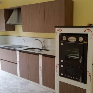 cucina in muratura loft