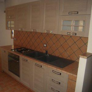 cucina in cotto e muratura