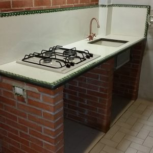 cucina treccia verde