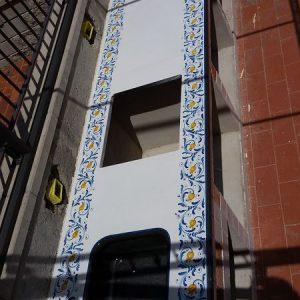 top in pietra lavica ceramizzata 600 blu