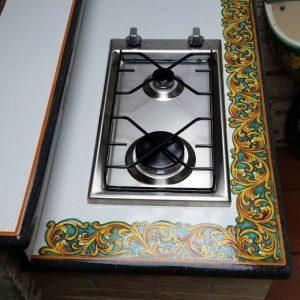 top in pietra lavica ceramizzata Ornato Verde